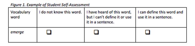 Student self-assessment