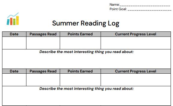Keep a reading log