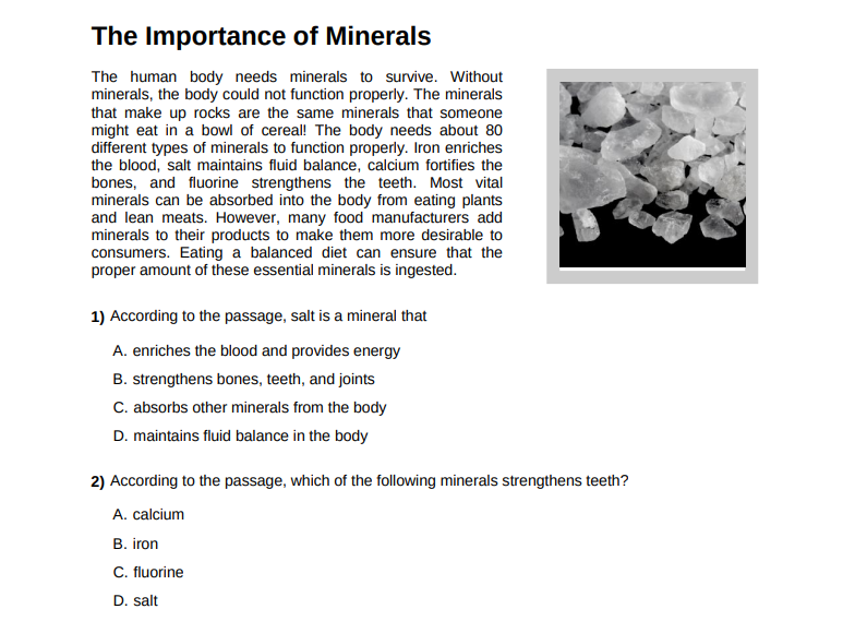 The Importance of Minerals